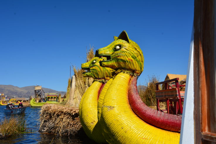 Reed Boat on Floating Islands, Lake Titicaca