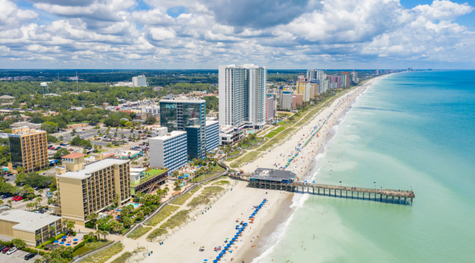 Aerial View of Myrtle Beach - Things to Do in Myrtle Beach